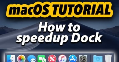 macOS Tutorial | How to Speedup Dock