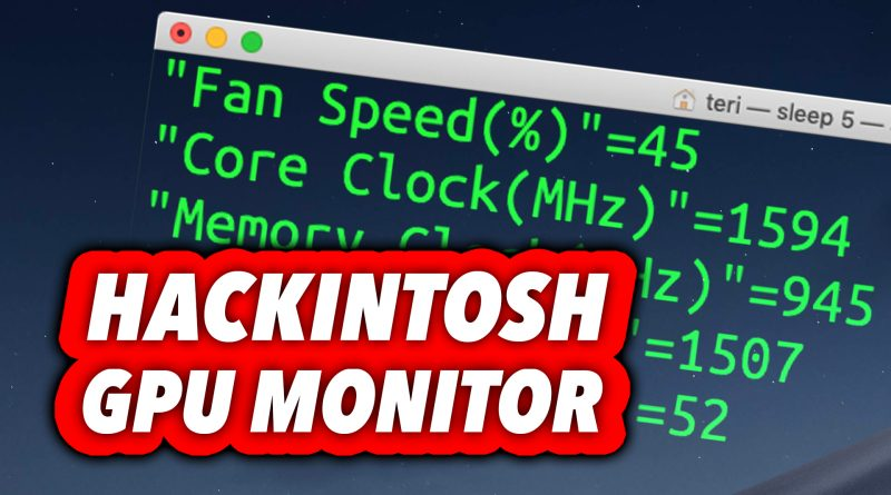 How To Monitor Your GPU in macOS HACKINTOSH for FREE