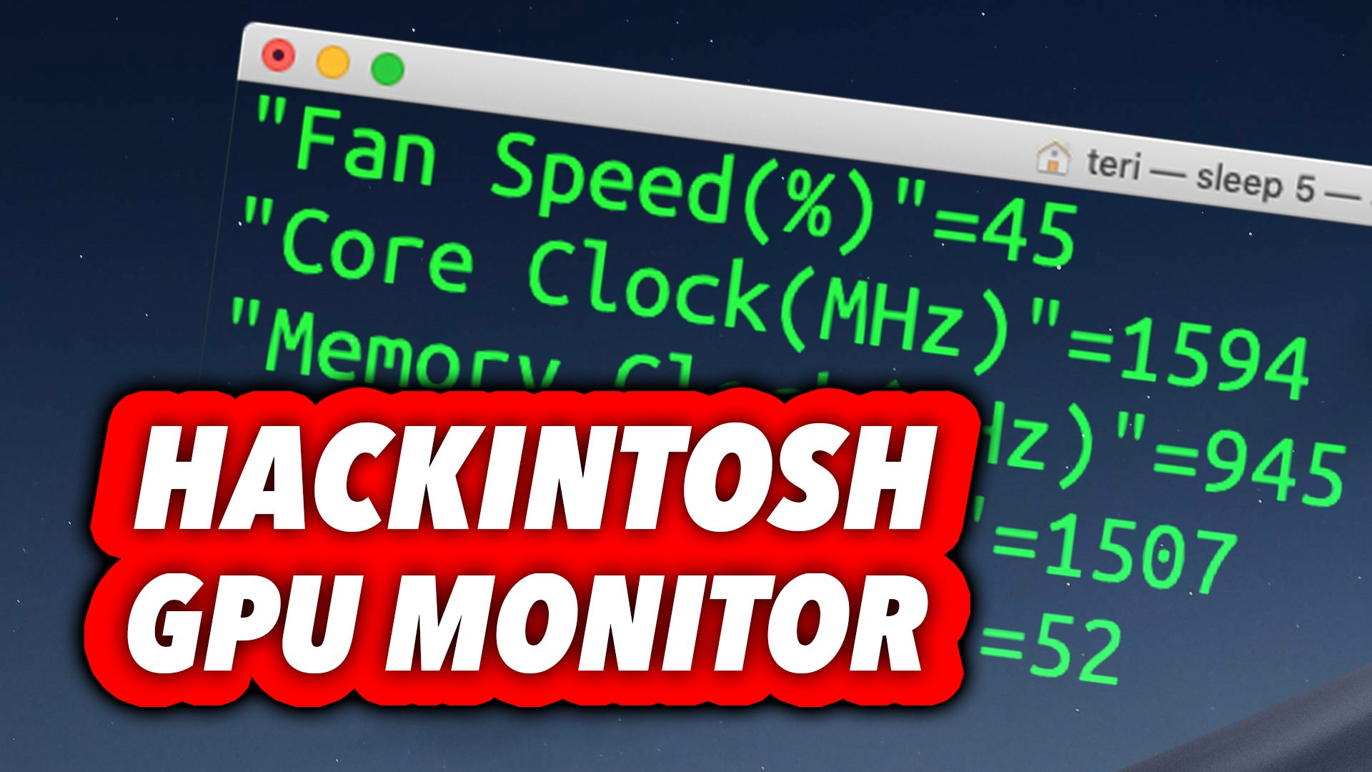 How To Monitor Your GPU in macOS HACKINTOSH for FREE !!! - MORGONAUT